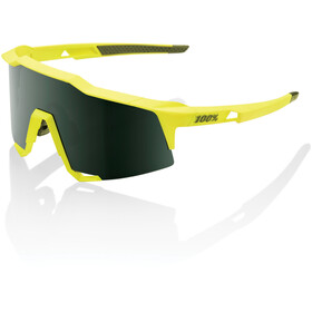 100% Speedcraft Lunettes Grand, soft tact banana/smoke